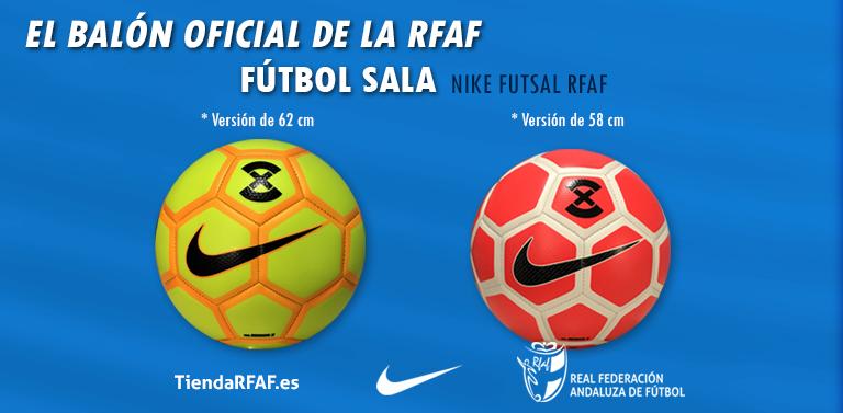 6f32170eb2db9 12 07 2017. RFAF presenta su nuevo balón oficial Nike Futsal RFAF  Disponible en dos tallas en fútbol el nuevo balón Nike Futsal RFAF será de  obligado uso en ...