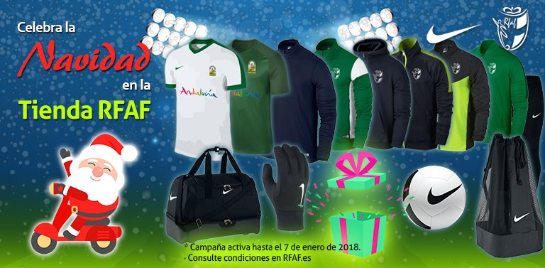 0314c11a26cb9 La Tienda Oficial RFAF lanza nuevos productos esta Navidad 2017. La  camiseta verde de la Selección Andaluza